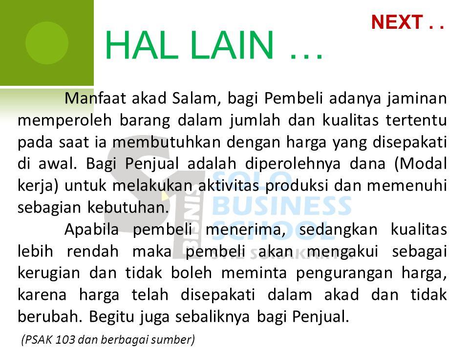 NEXT . . HAL LAIN …