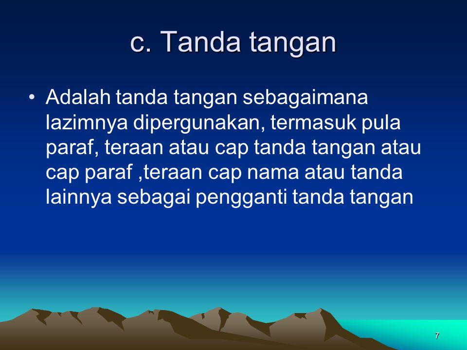 c. Tanda tangan