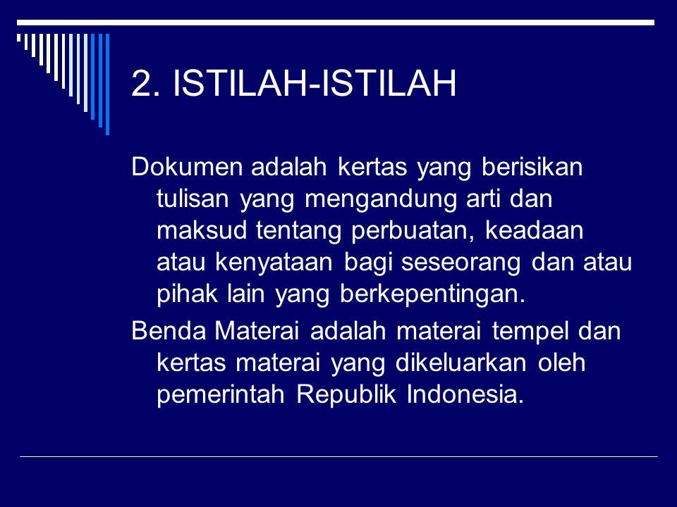 2. ISTILAH-ISTILAH