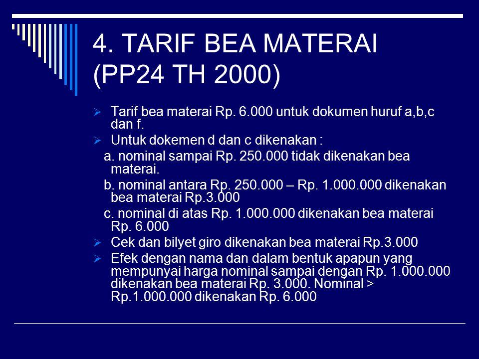 4. TARIF BEA MATERAI (PP24 TH 2000)