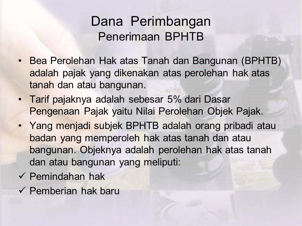Dana Perimbangan Penerimaan BPHTB