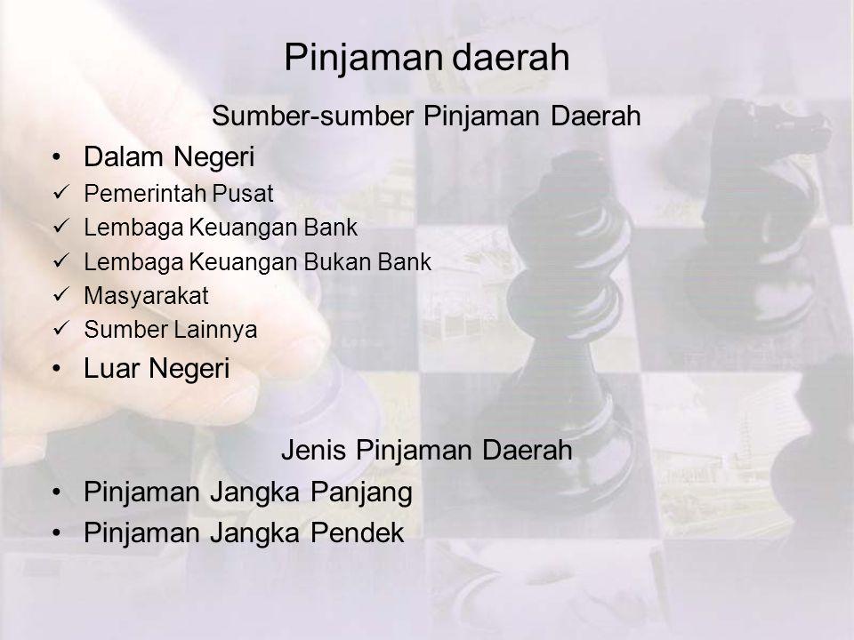 Sumber-sumber Pinjaman Daerah