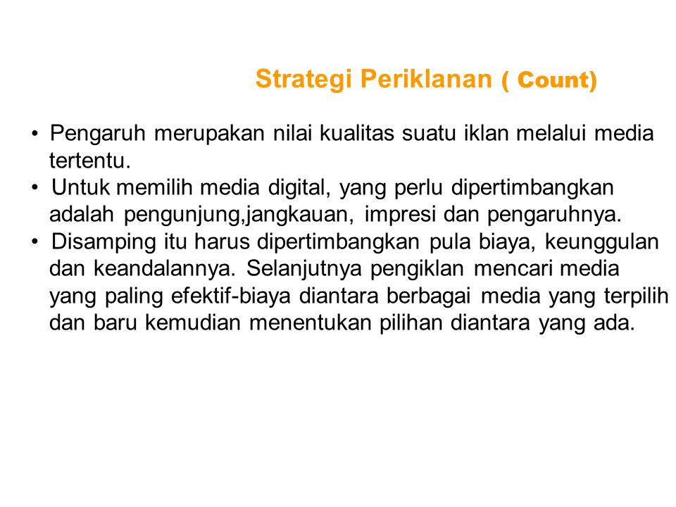 Strategi Periklanan ( Count)