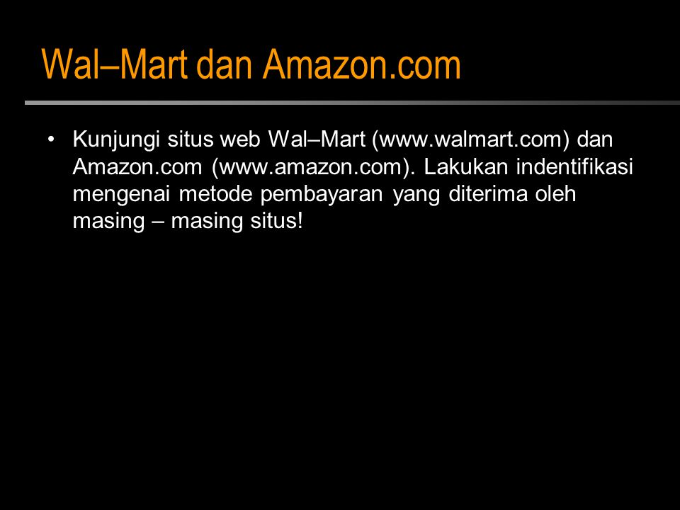 Wal–Mart dan Amazon.com