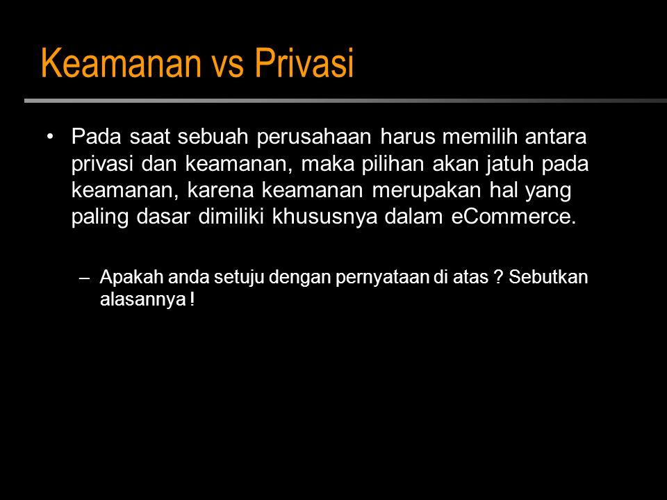 Keamanan vs Privasi