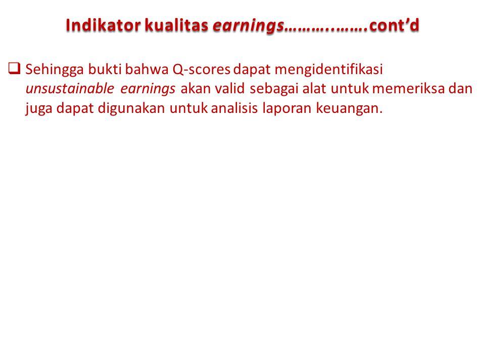 Indikator kualitas earnings………..…….cont'd