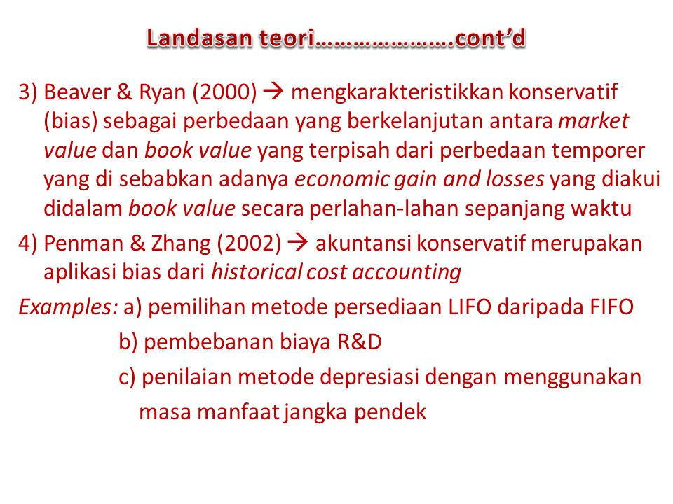 Landasan teori………………….cont'd
