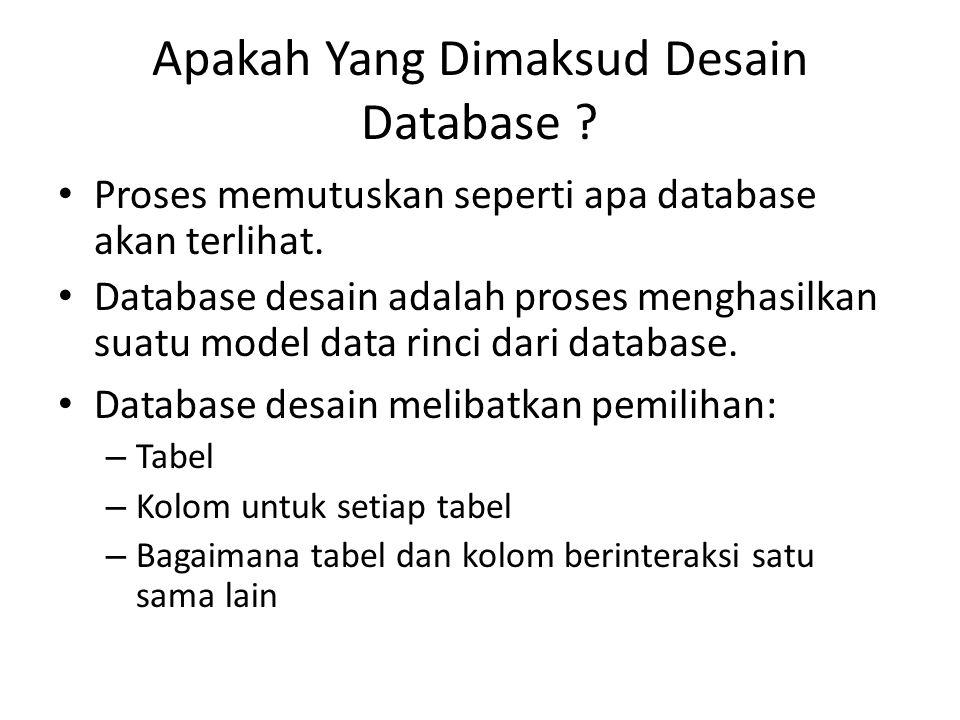 Apakah Yang Dimaksud Desain Database