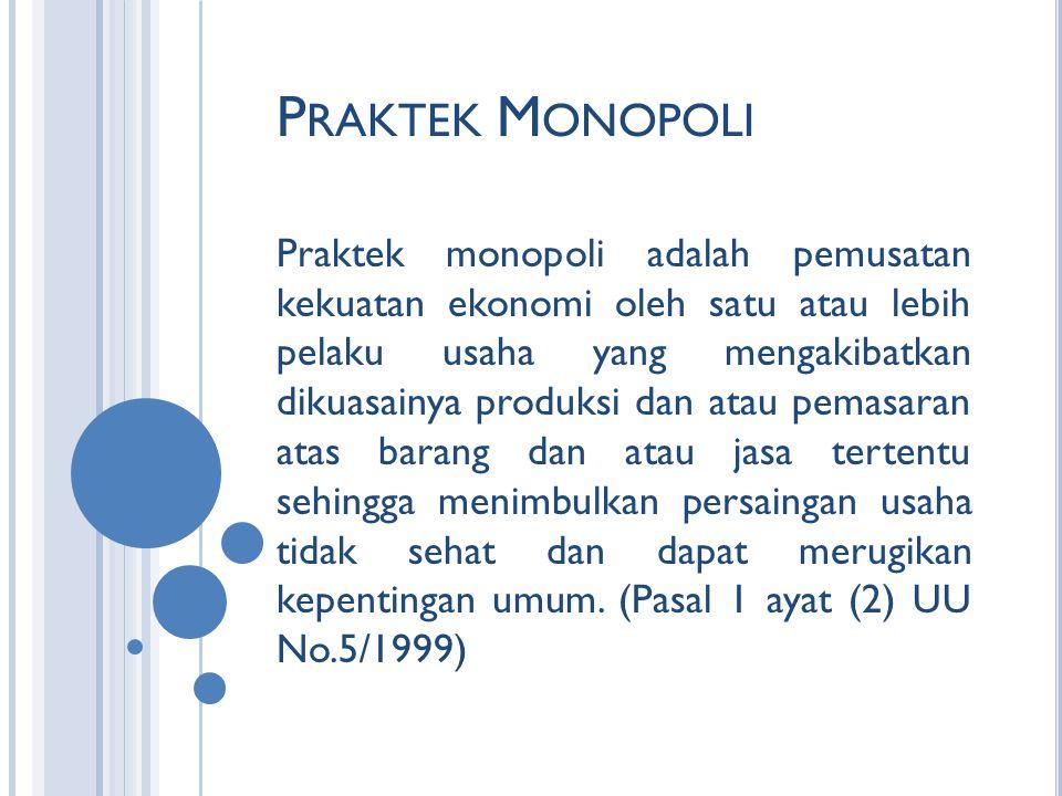 Praktek Monopoli