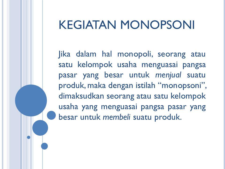 KEGIATAN MONOPSONI