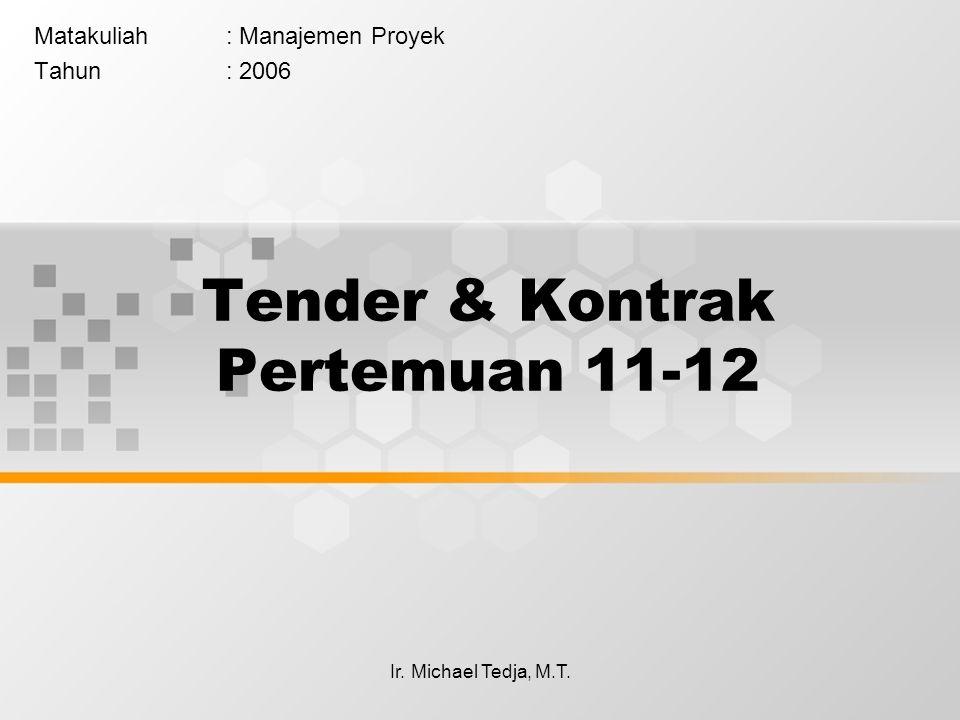 Tender & Kontrak Pertemuan 11-12
