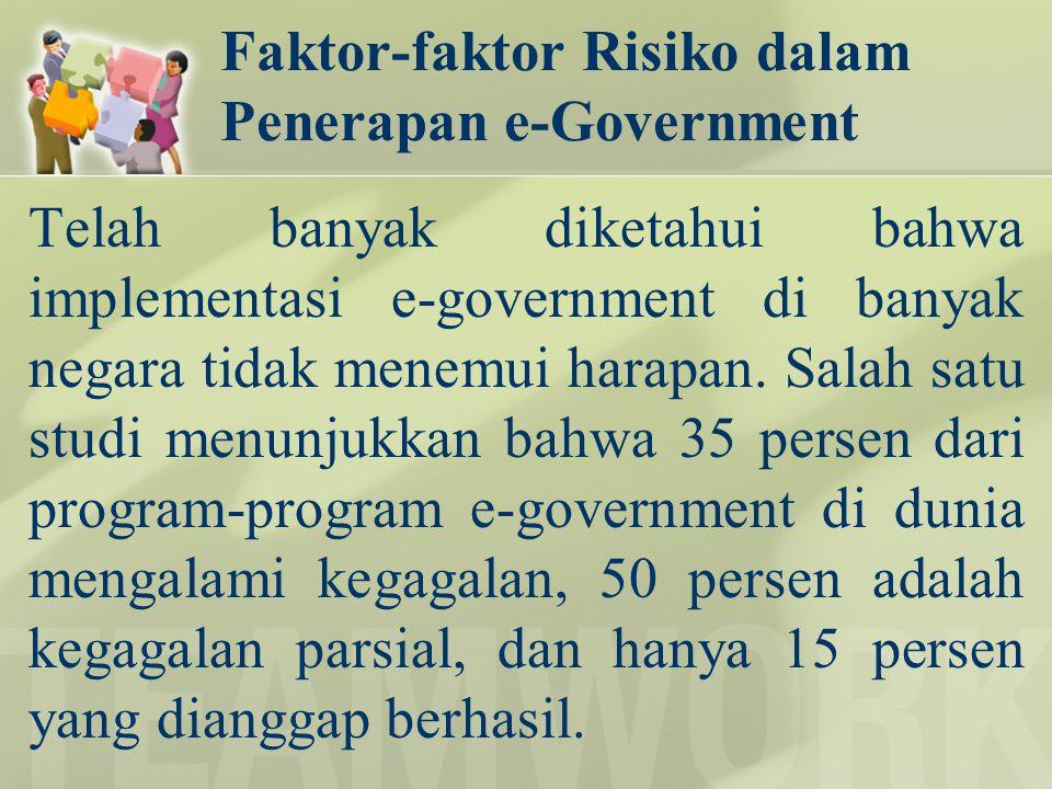Faktor-faktor Risiko dalam Penerapan e-Government