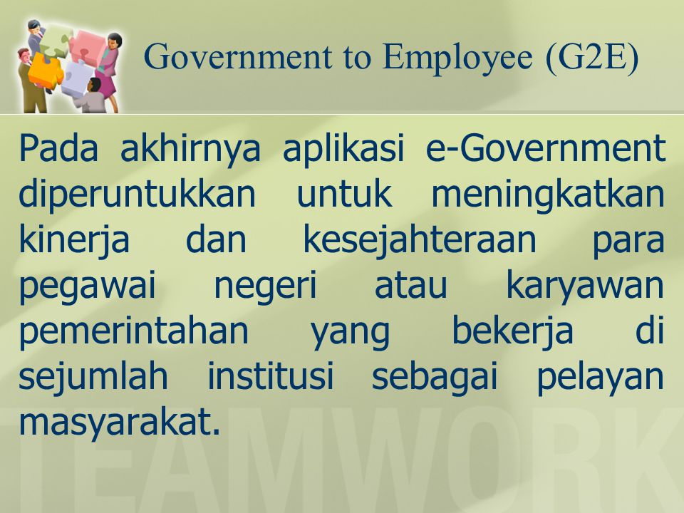 Government to Employee (G2E)