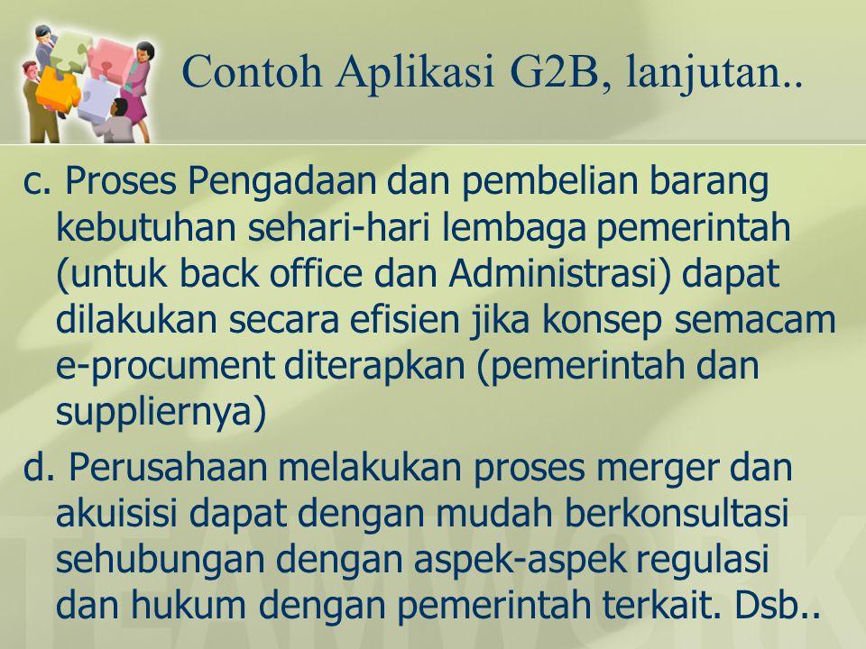 Contoh Aplikasi G2B, lanjutan..