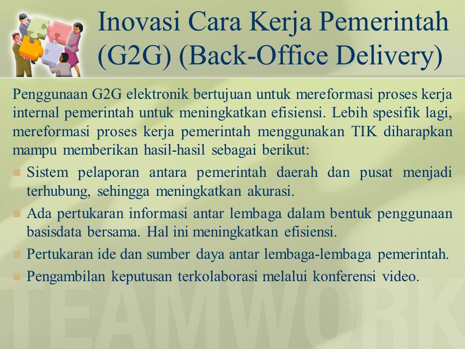 Inovasi Cara Kerja Pemerintah (G2G) (Back-Office Delivery)