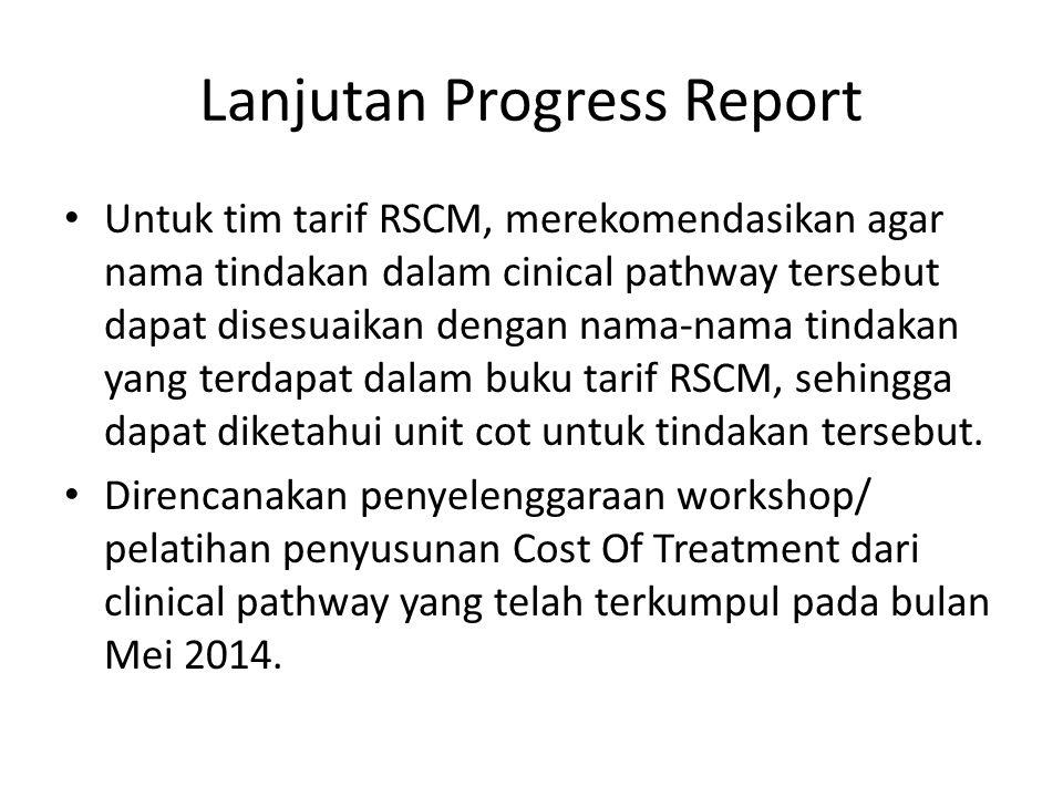 Lanjutan Progress Report