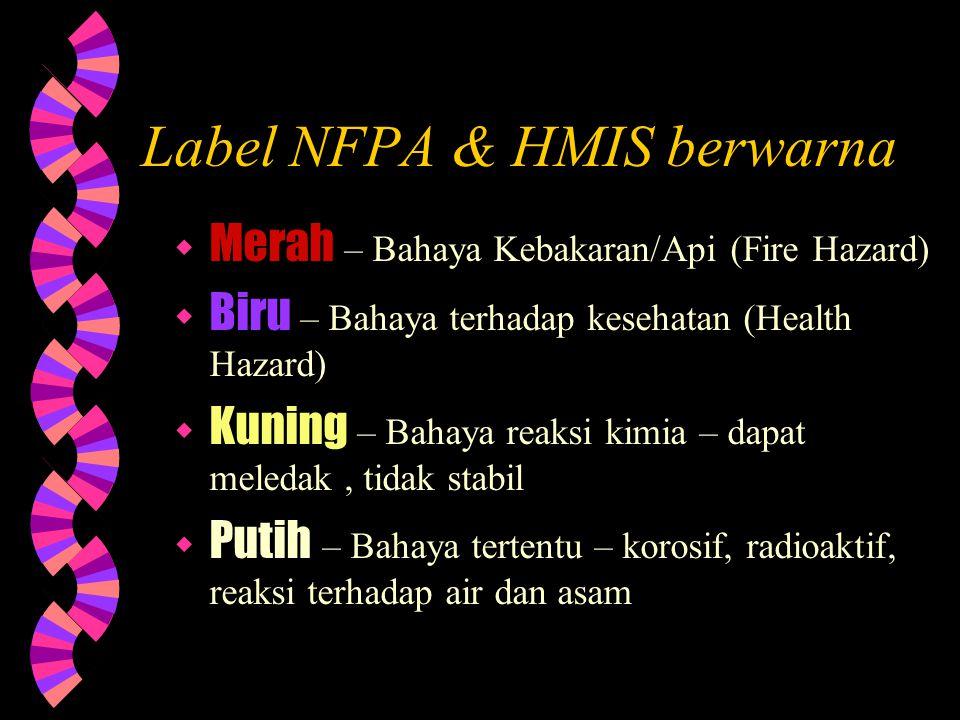 Label NFPA & HMIS berwarna