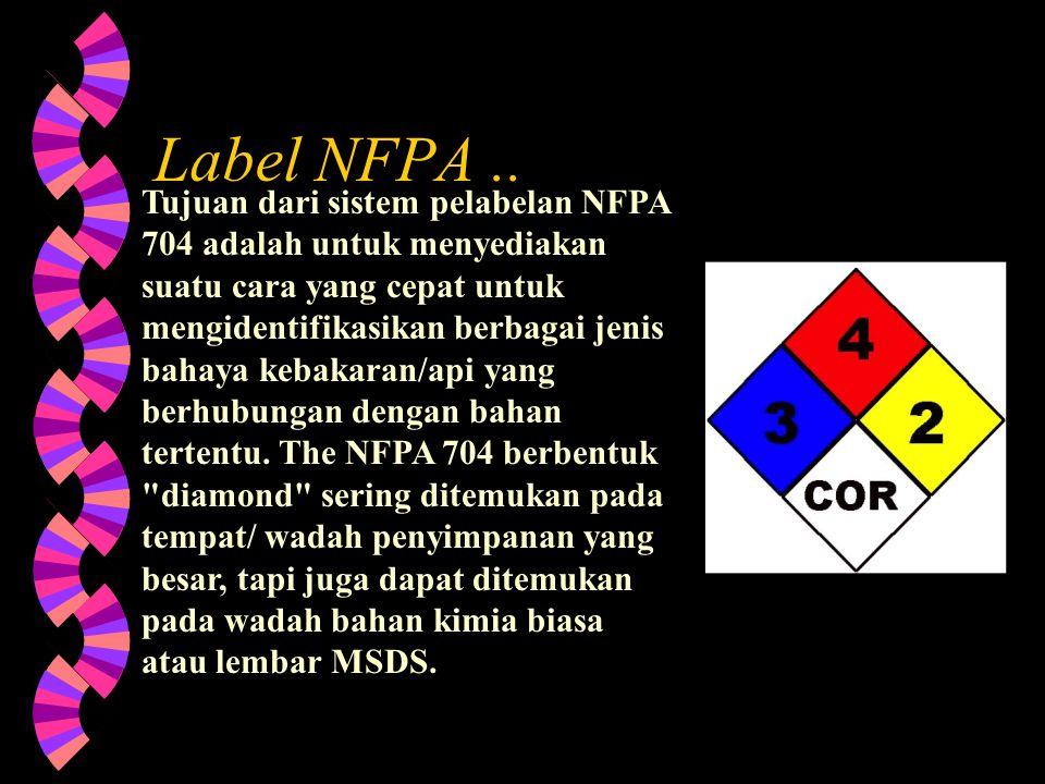 Label NFPA ..