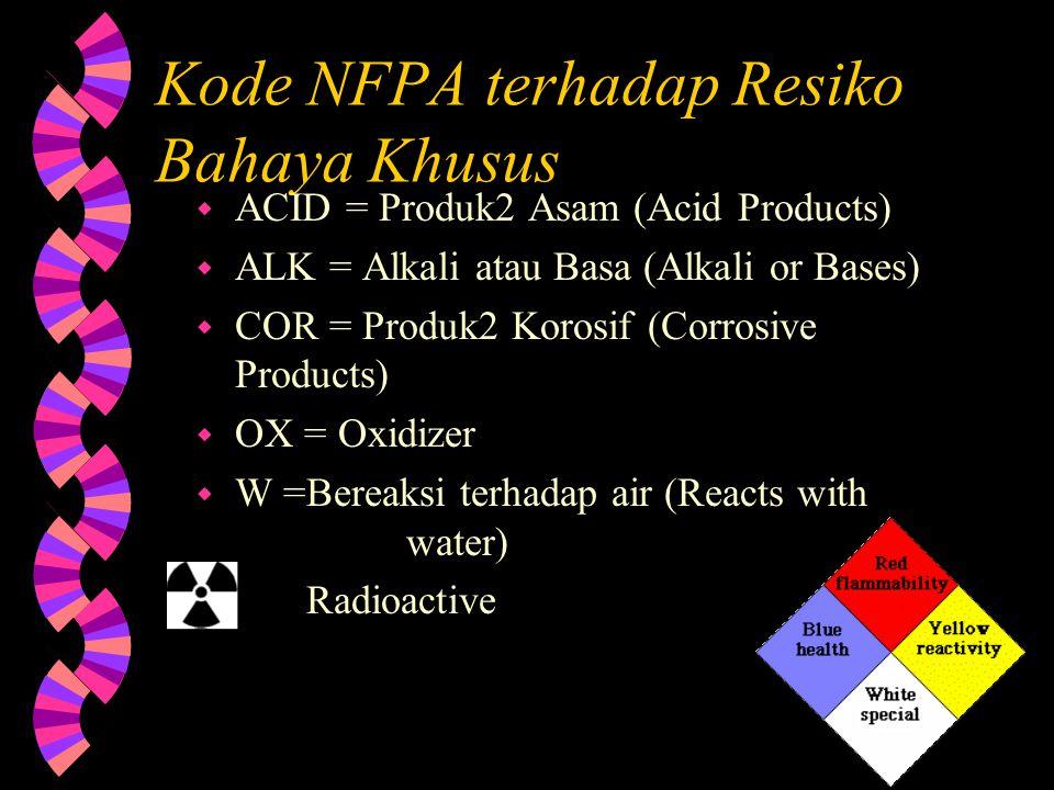 Kode NFPA terhadap Resiko Bahaya Khusus