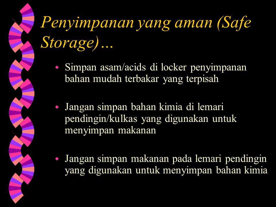 Penyimpanan yang aman (Safe Storage)…
