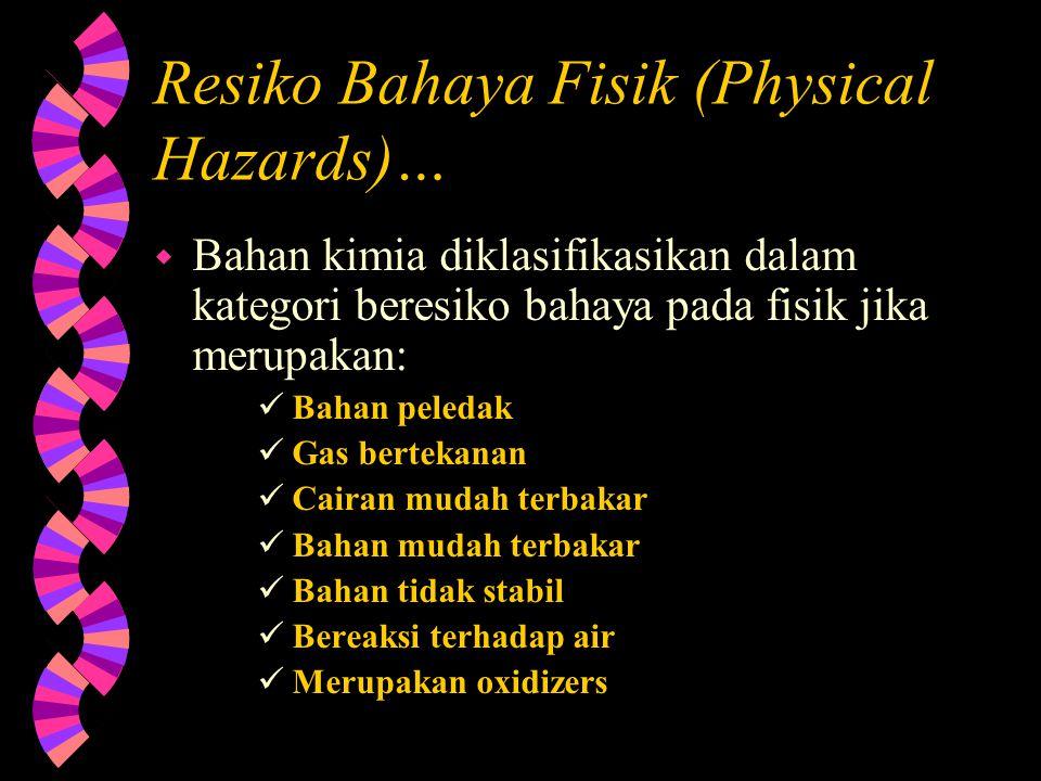 Resiko Bahaya Fisik (Physical Hazards)…