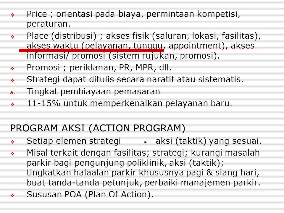 PROGRAM AKSI (ACTION PROGRAM)‏
