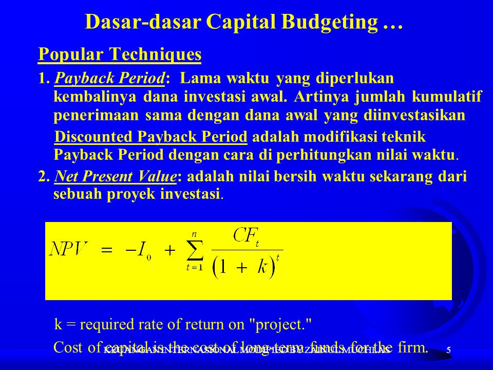 Dasar-dasar Capital Budgeting …