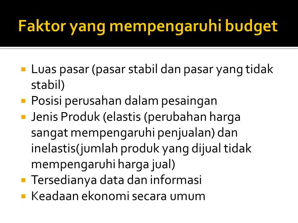 Faktor yang mempengaruhi budget