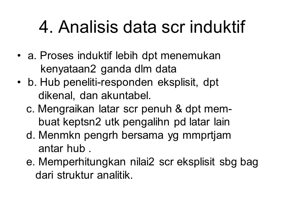 4. Analisis data scr induktif