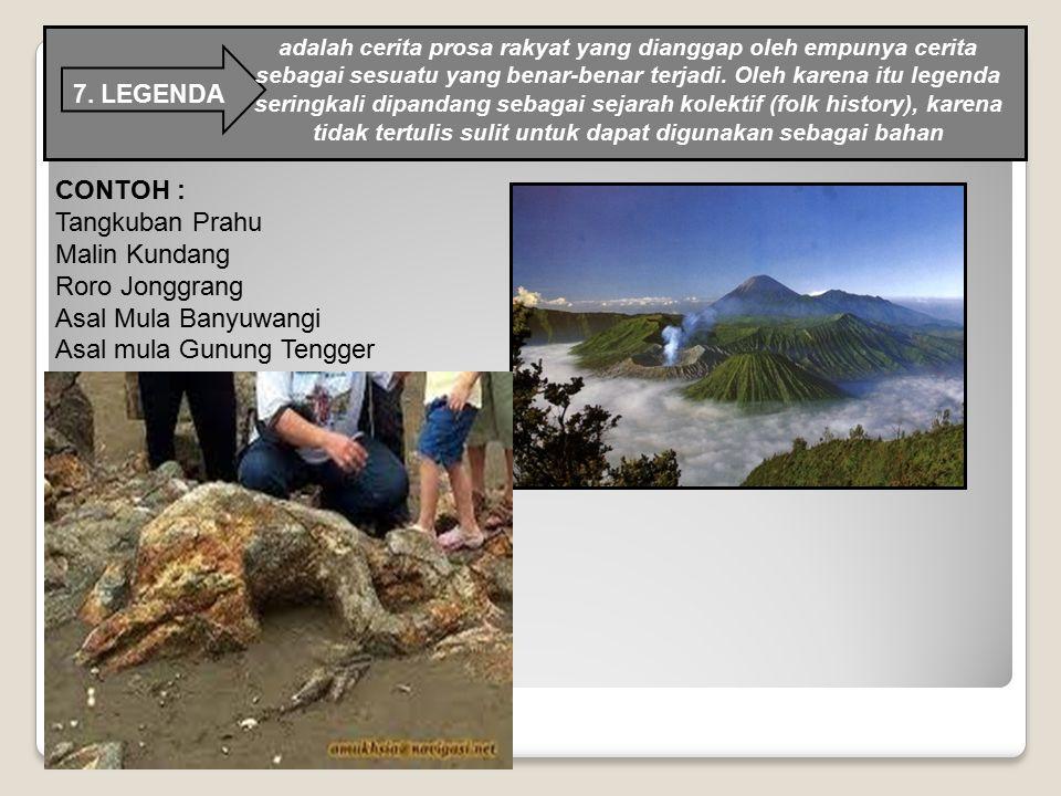 Asal mula Gunung Tengger