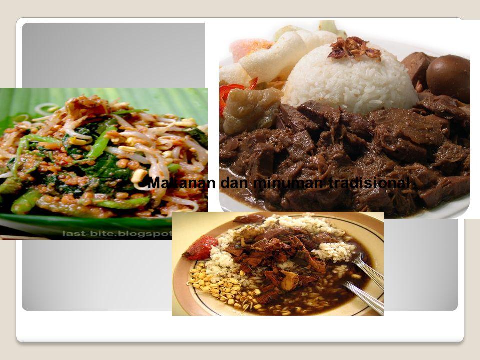 Makanan dan minuman tradisional
