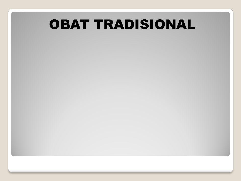 OBAT TRADISIONAL
