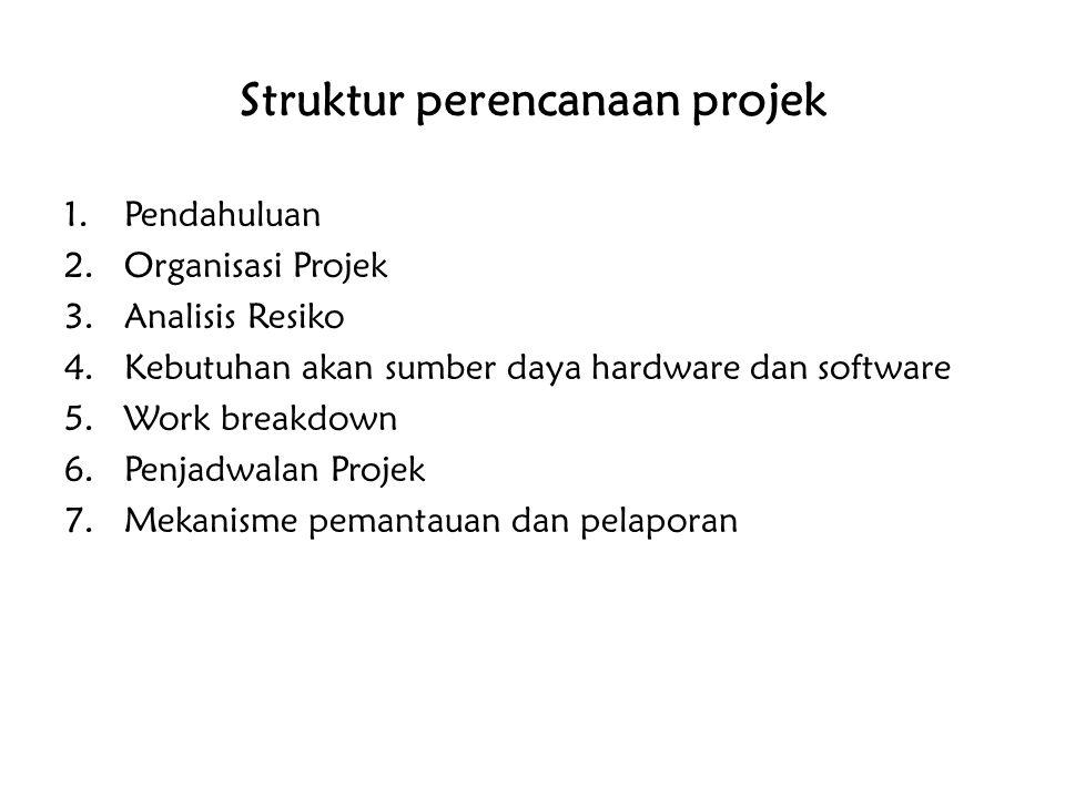 Struktur perencanaan projek