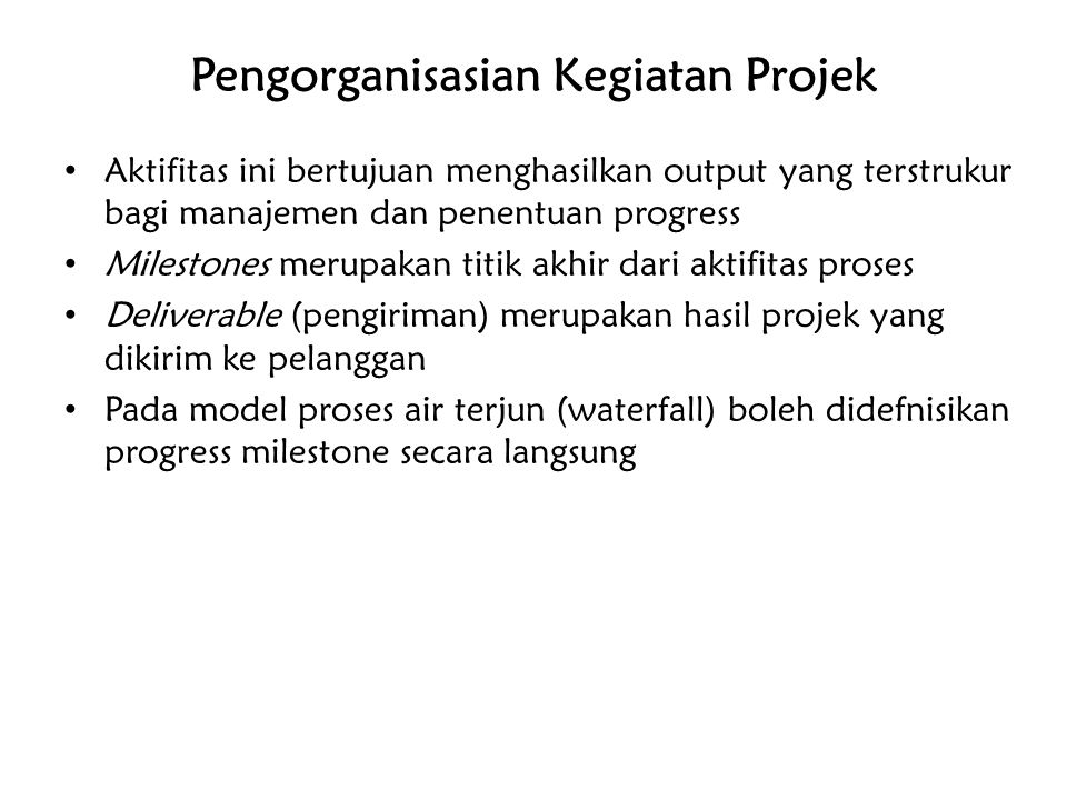 Pengorganisasian Kegiatan Projek