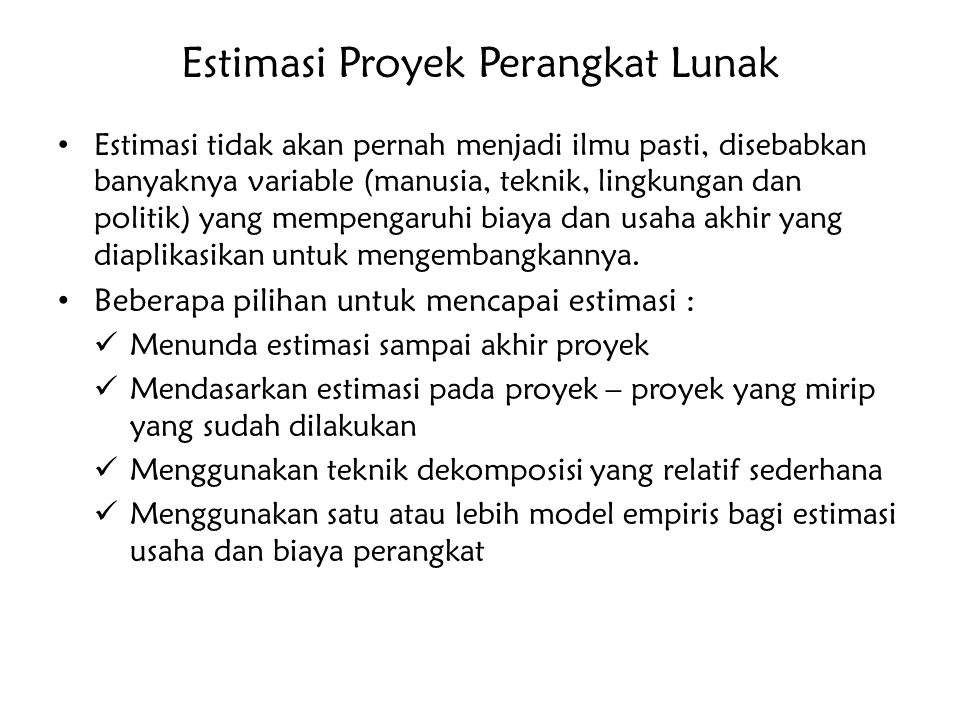 Estimasi Proyek Perangkat Lunak