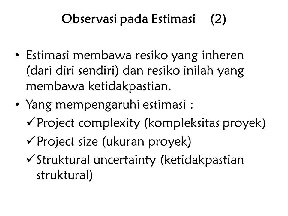 Observasi pada Estimasi (2)