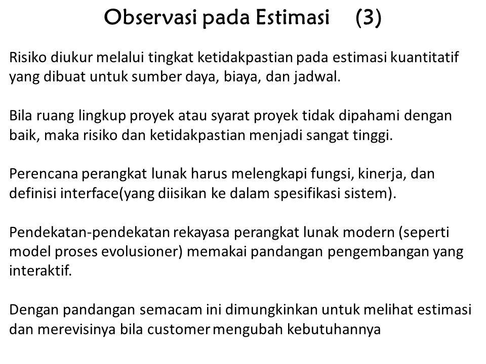 Observasi pada Estimasi (3)