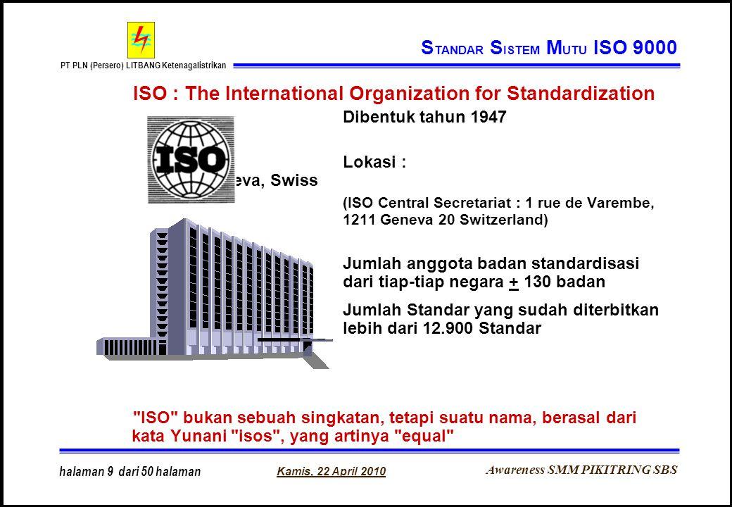 STANDAR SISTEM MUTU ISO 9000