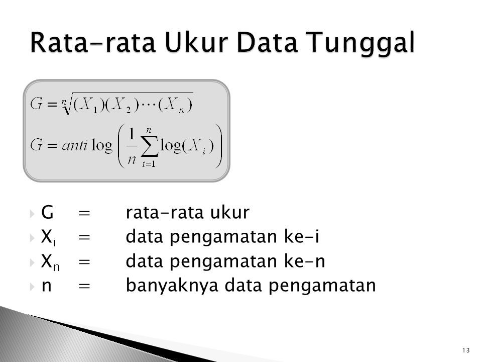 Rata-rata Ukur Data Tunggal
