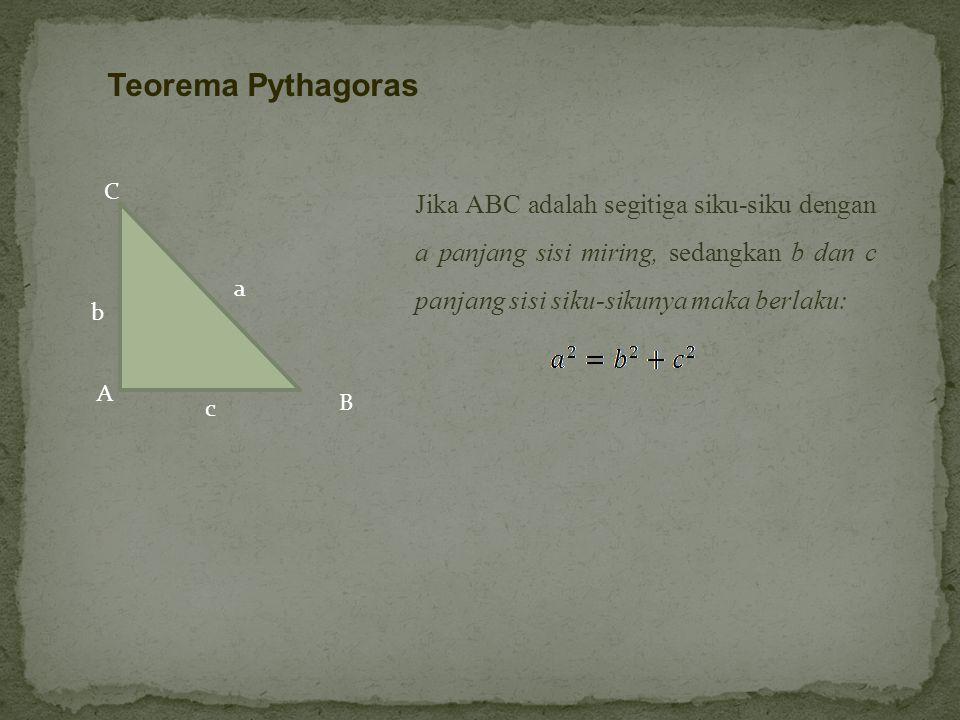 Teorema Pythagoras A. c. C. B. a. b.