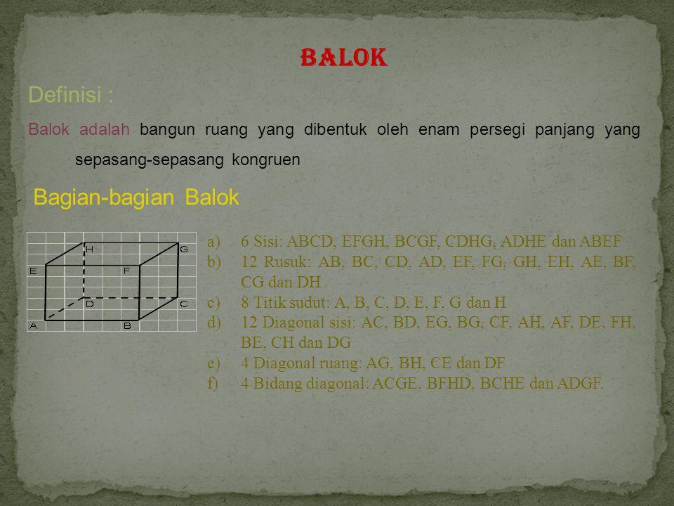 Balok Definisi : Bagian-bagian Balok