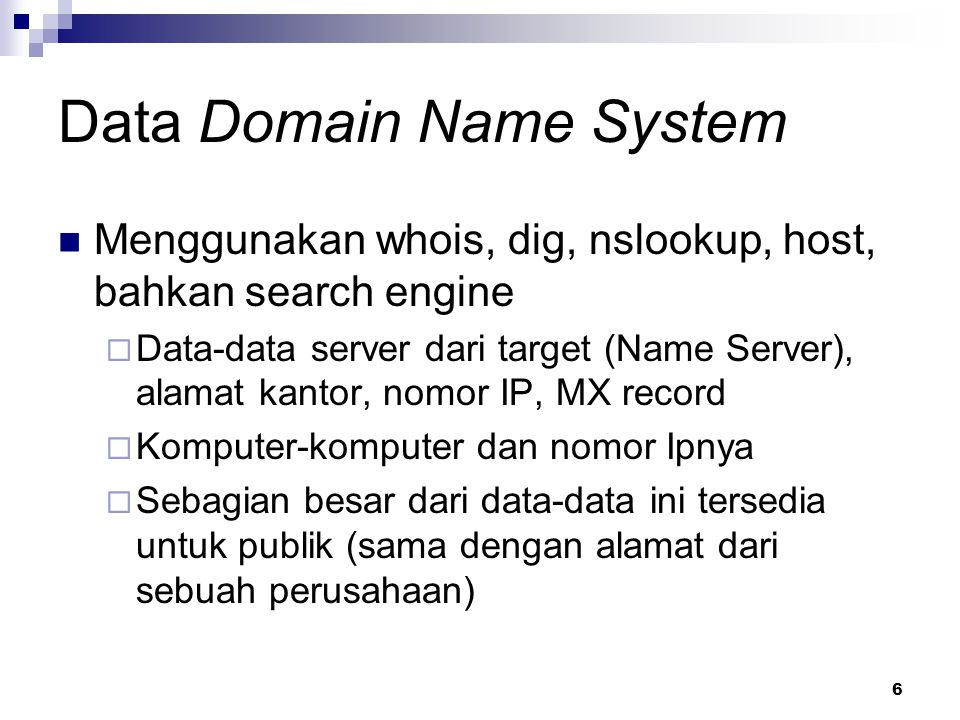 Data Domain Name System