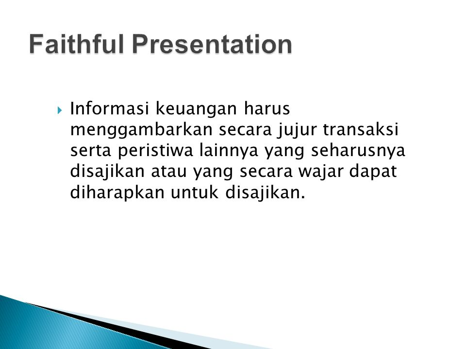 Faithful Presentation