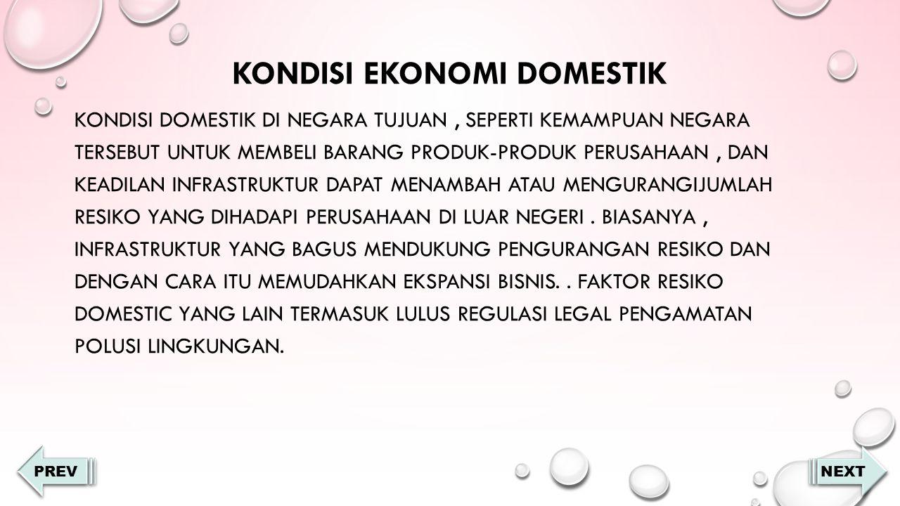 Kondisi ekonomi domestik
