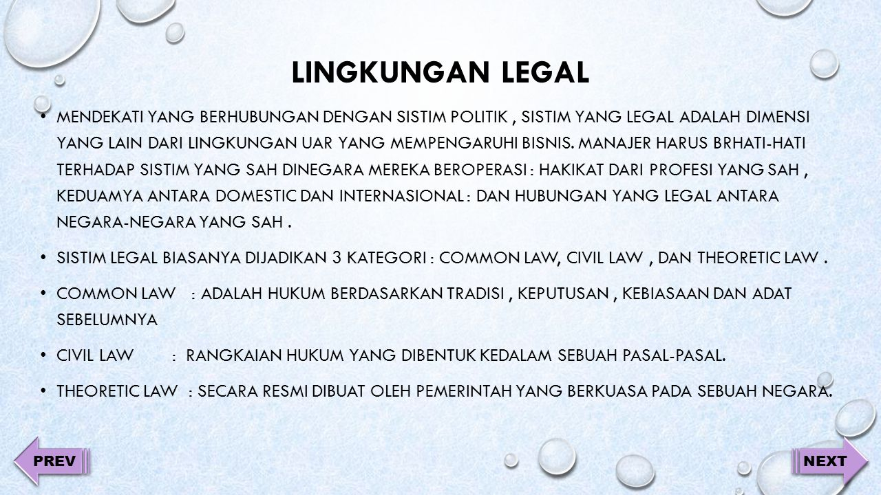 Lingkungan legal