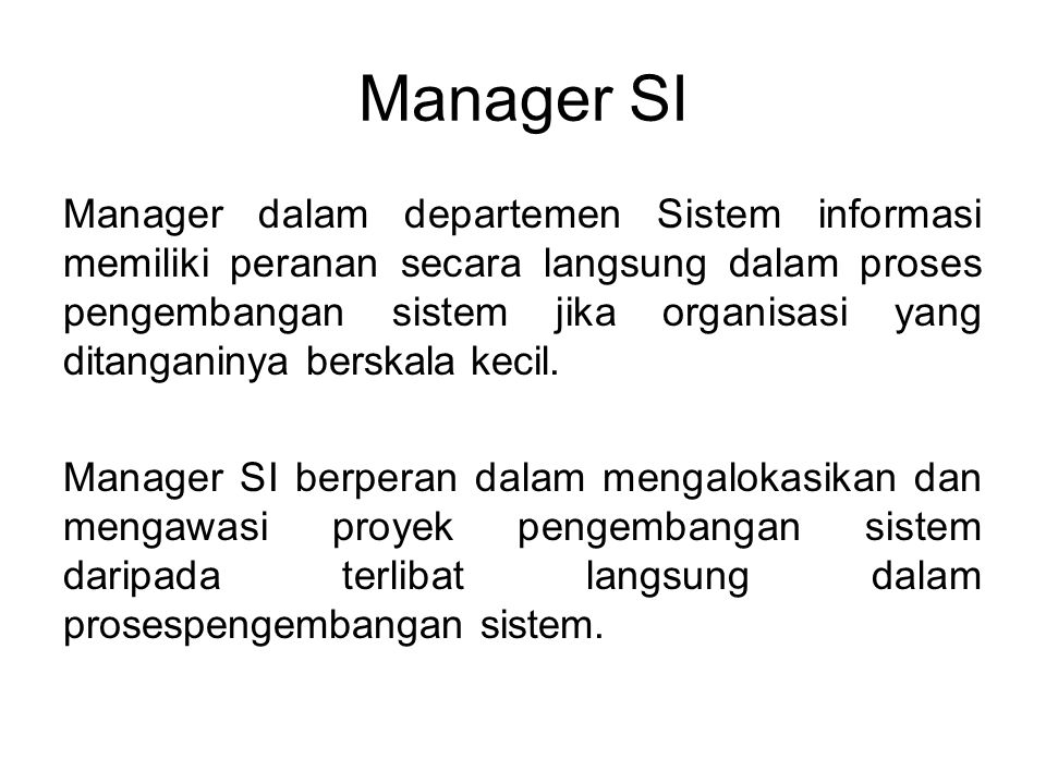 Manager SI