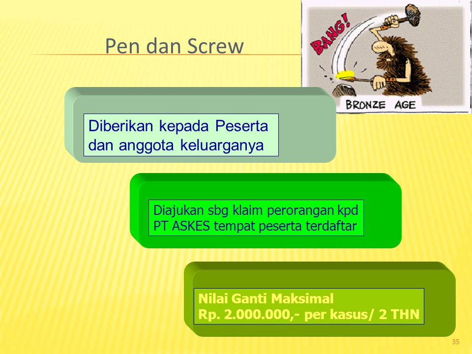 Pen dan Screw Diberikan kepada Peserta dan anggota keluarganya
