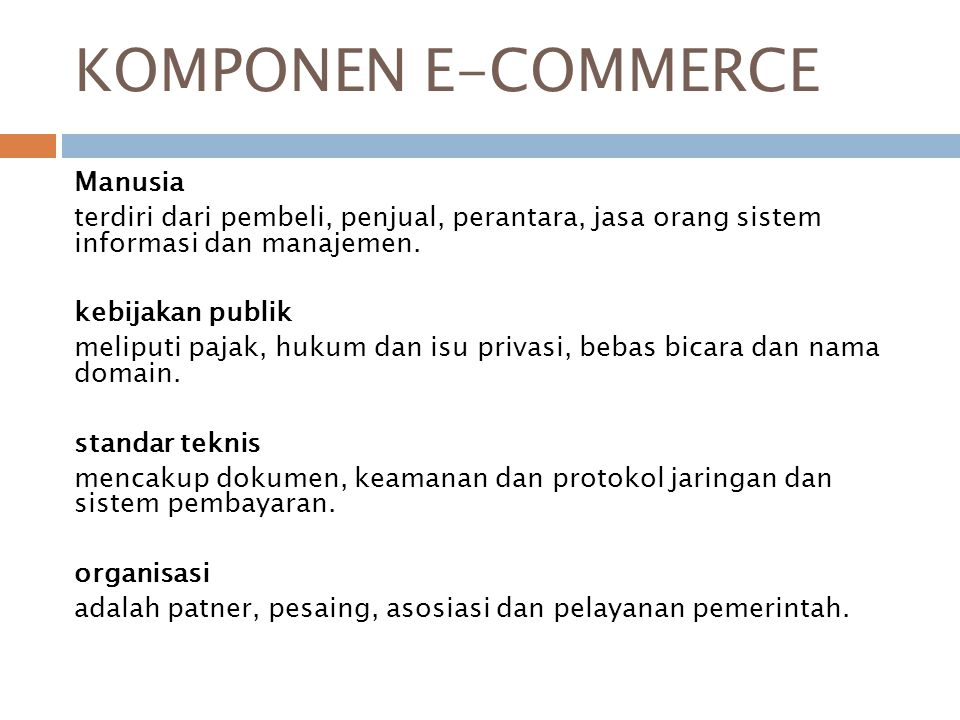 KOMPONEN E-COMMERCE Manusia