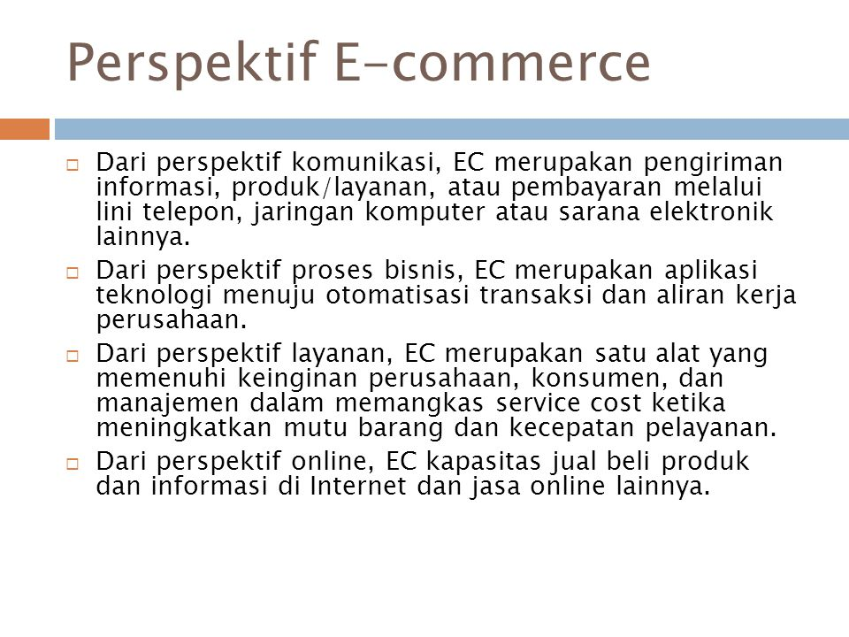 Perspektif E-commerce