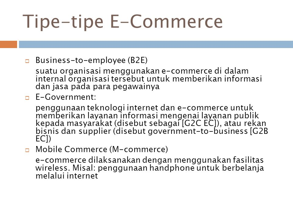 Tipe-tipe E-Commerce Business-to-employee (B2E)